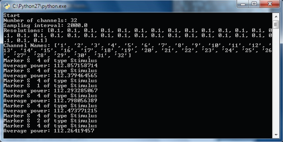 Support Tip - Fig. 5: Windows command line output when running the RDA Client for Python.