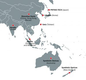 Brain Products distributors in the Asia Pacific region