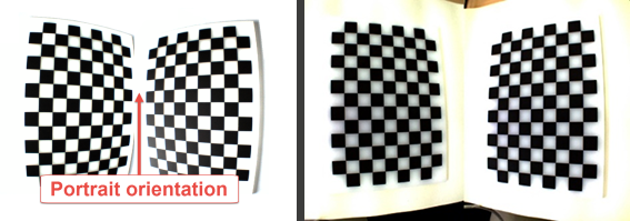 Figure 1 - Calibration Check: Example from the CapTrak software (left) and accepted image by the Calibration check (right)